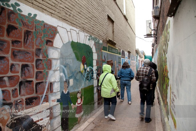 Group in Alley
